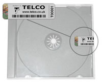 picture of security labels sealing a dvd case