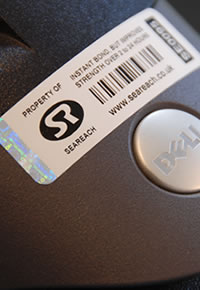 Photo of asset tag